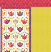 hexagon block tulip cheater quilt - cot size
