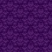 Skull Damask Purple/Purple