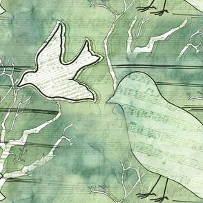 Musical Flight Large Bird Print