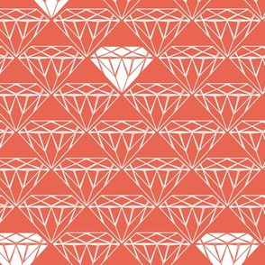 white line diamonds on coral