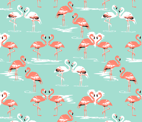 Flamingos love mint