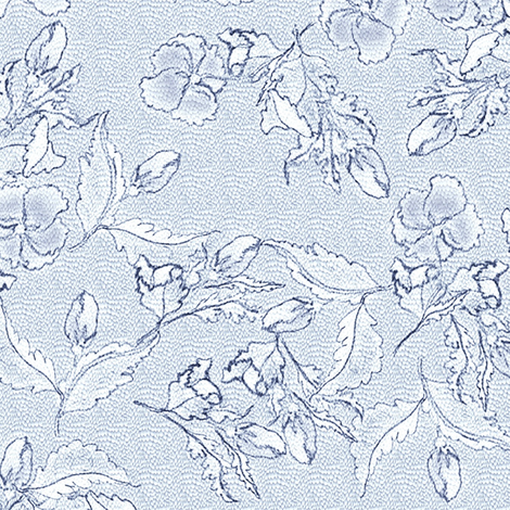 Shy Fleurs - Tattooed Flowblue Dragon fabric by glimmericks on Spoonflower - custom fabric