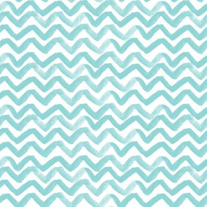 Zig Zag waves turquoise