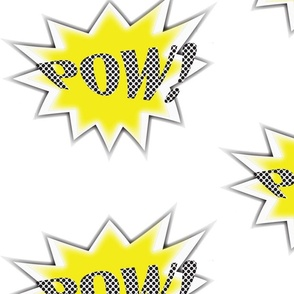 SuperHero POW! Yellow