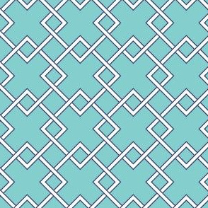 lattice Turquoise navy