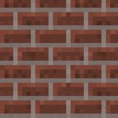 Minecraft Brick Wall - Large