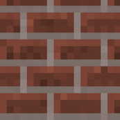 Minecraft Brick Wall - Extra Large
