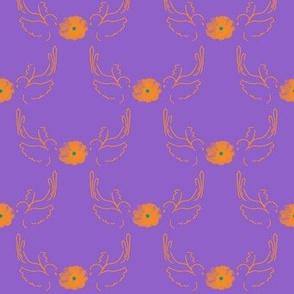 Dance of the Scissortails on a Purple Sky