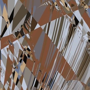 Brown Gray Abstract