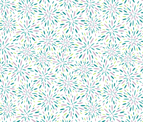 Starburst, Lavender + Blue fabric by kateriley on Spoonflower - custom fabric