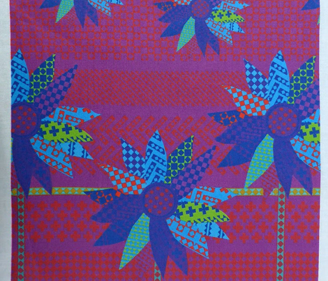 Flower border screenprint