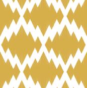 Navajo Ikat-Yellow & White