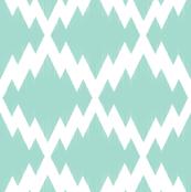Navajo Ikat-Mint & White