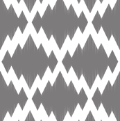 Navajo Ikat-Gray & White