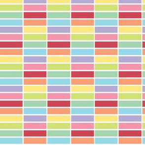 Stacked - pastel rainbow