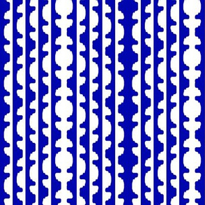 Topiary Stripe   -Blue and White