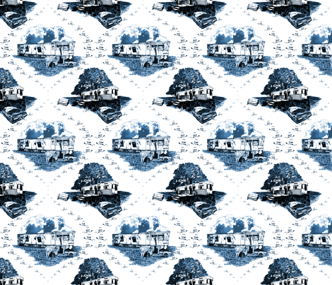 Trailer Trash Toile (2014) fabric by lavaguy on Spoonflower - custom fabric