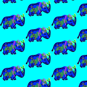 Blue Rhinos for Good Luck