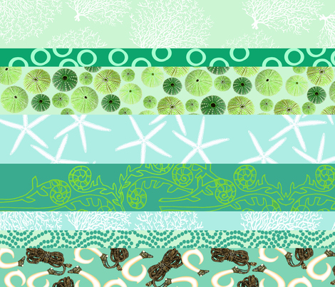 Hawaiian Ocean Love fabric by honoluludesign on Spoonflower - custom fabric