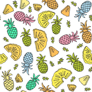 Pineapple Mix On White