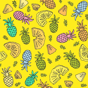 Pineapple Mix On Yellow