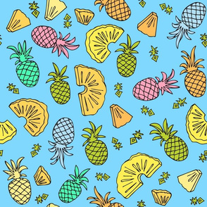 Pineapple Mix On Blue