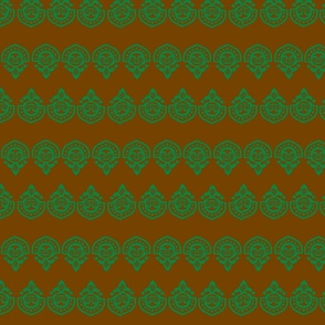 Polynesian Village Green wide stripe-ch
