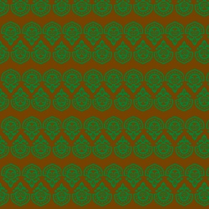 Polynesian Green/brown slim stripe-ch