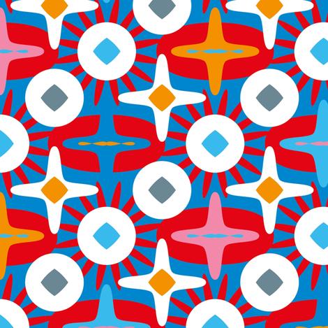 Stars and cross (big) fabric by cassiopee on Spoonflower - custom fabric