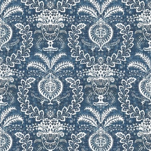 Damask in Indigo Resist
