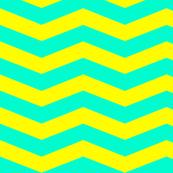 Yellow Turquoise Chevron