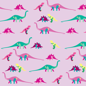 Those funky old dinosaurs - pinks