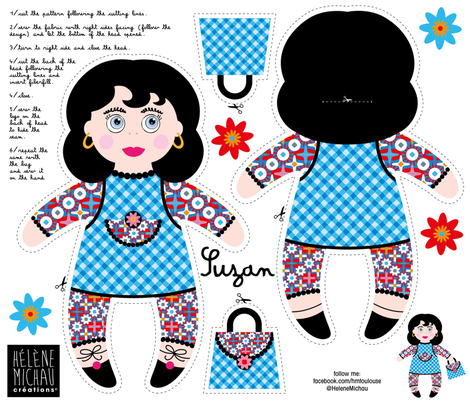 Suzan Plushie fabric by cassiopee on Spoonflower - custom fabric