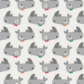 Rhinoceroses with bow ties