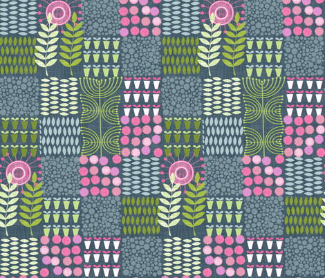 Golden Thyme and Silver Mint fabric by spellstone on Spoonflower - custom fabric