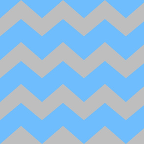 Lt Blue and Grey chevron- Large