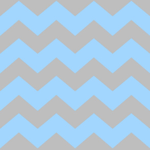 Chevron Blue/Grey- Light -Large