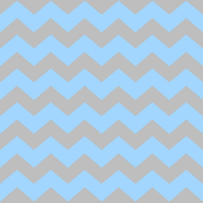Blue/gray Chevron medium