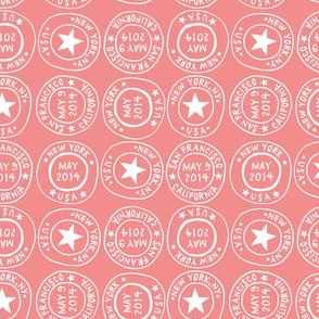 Postmarks - pink