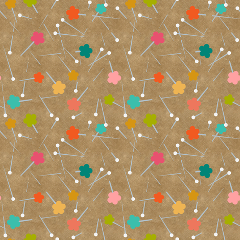 Quilting pins fabric by vo_aka_virginiao on Spoonflower - custom fabric