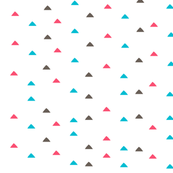 tiny triangles - pink blue brown