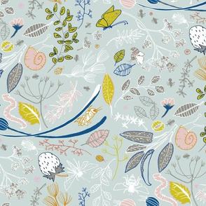 The herb garden (in duck egg blue)