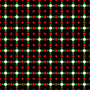 Beaded Lattice   -Red, Green, and White on Black