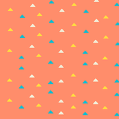 tiny triangles - pink yellow blue