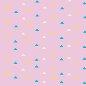 tiny triangles - purple yellow blue