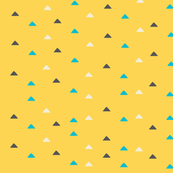 tiny triangles - yellow blue brown
