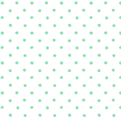 polka dot - mint green on white