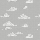 Oriental Clouds in Gray