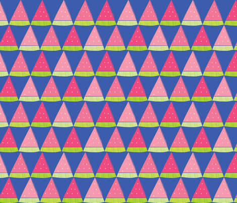 Watermelon Angles  fabric by ariel_lark_designs on Spoonflower - custom fabric