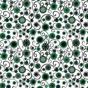 blackwhiteandgreenflowerssf